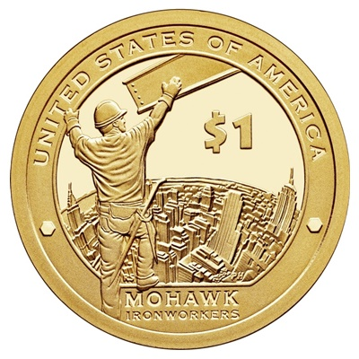 2015 Native American $1 Coin - Mohawk Iron Works (D)